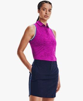 Damen UA Zinger Ärmelloses Poloshirt mit Zip
