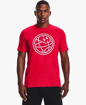 남성 UA 훕스 로고 티셔츠