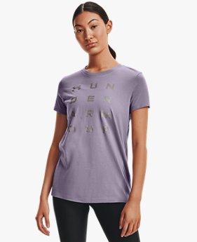 Women's UA Metallic Wordmark Short Sleeve