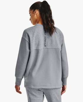 Women's UA Rival Fleece Embroidered Crew