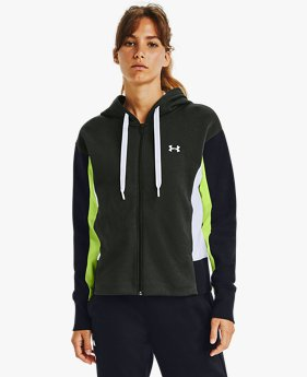Sweat à capuche UA Rival Fleece Embroidered Full Zip pour femme
