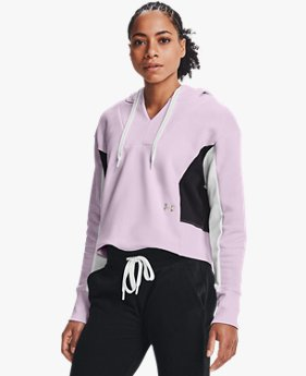 Damen UA Rival Fleece-Hoodie mit Stickerei