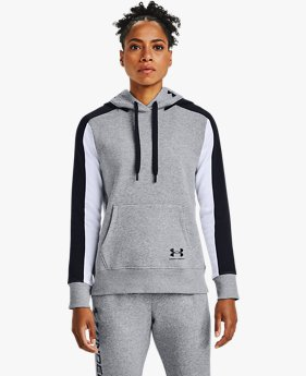 Damen UA Rival Fleece Graphic CB Hoodie