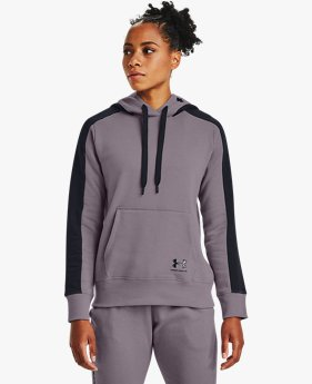 Sweat à capuche UA Rival Fleece Graphic CB pour femme