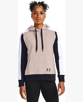 Women's UA Rival Fleece Graphic Colorblock Hoodie