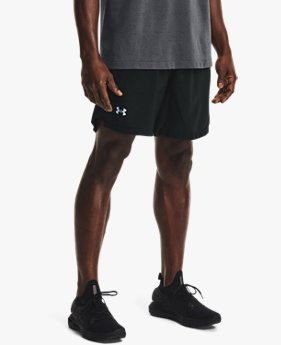 Men's UA Launch Run 2-in-1 Print Shorts