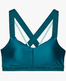 Women's UA Crossback Low Shine Sports Bra