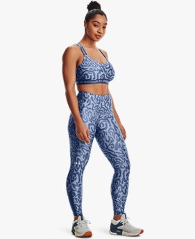Women's HeatGear® Armour No-Slip Waistband Tonal Print Ankle Leggings