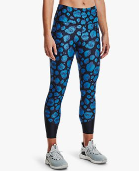 Women's HeatGear® Armour No-Slip Waistband Printed Ankle Leggings