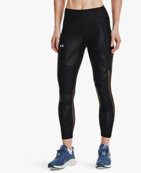 Leggings HeatGear® Armour Emboss Panel Ankle para mujer