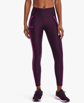 Women's HeatGear® Armour No-Slip Waistband Shine Mesh Full-Length Leggings