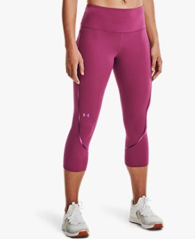 Women's UA RUSH™ No-Slip Waistband Scallop Capris