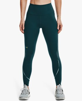 Women's UA RUSH™ No-Slip Waistband Scallop Full-Length Leggings