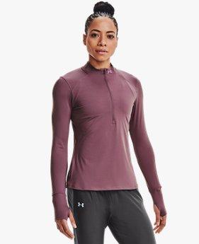 Camiseta con ½ Cierre UA Qualifier Run 2.0 para Mujer