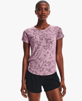 女士UA Streaker Forest短袖T恤
