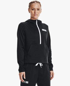 Sudadera con ½ Cierre Armour Fleece® Mixed Media para Mujer