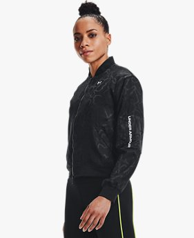 UAラッシュ ウーブン ボンバー ジャケット ジャカード(トレーニング/WOMEN)