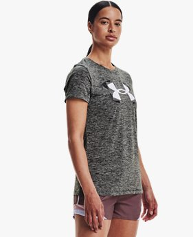 Women's UA Tech™ Twist Logo Short Sleeve