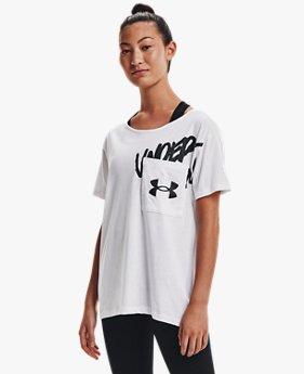 女士Oversized Wordmark Graphic T恤