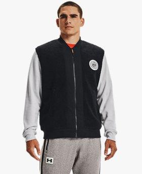 Men's UA Rival Fleece Alma Mater Bomber Jacket