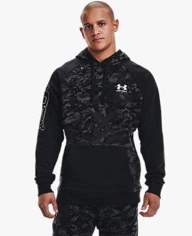 เสื้อฮู้ด UA Rival Fleece Camo Script สำหรับผู้ชาย