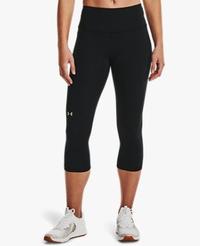 Women's UA RUSH™ No-Slip Waistband Capris