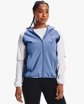 여성 UA 우븐 컬러블록 워드마크 재킷