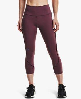Women's UA RUSH™ HeatGear® No-Slip Waistband Mesh Pocket Capris