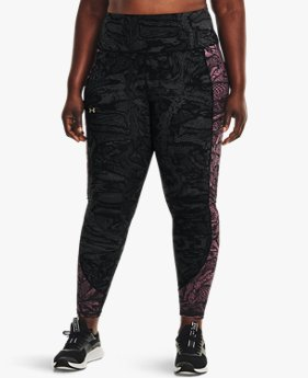 Women's UA RUSH™ HeatGear® No-Slip Waistband Printed Full-Length Leggings