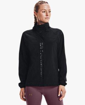여성 UA RUSH™ 우븐 풀 집 재킷