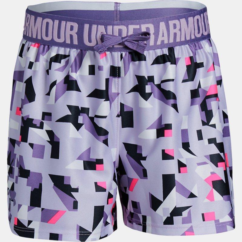 1d354aa71 Under Armour - Shorts Estampados Ua Play Up Para Niña Purple Ymd