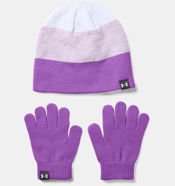 Girls' UA Beanie & Glove Combo