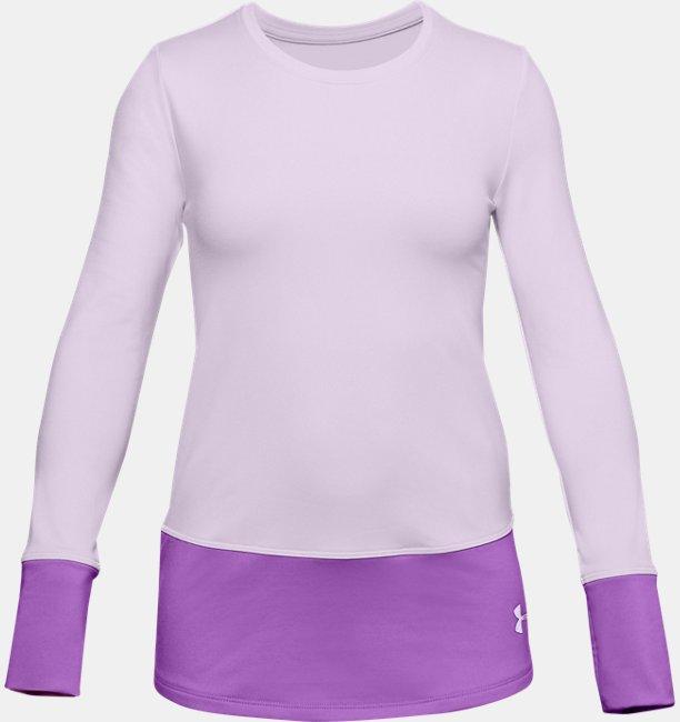 Meisjesshirt ColdGear® met lange mouwen en ronde hals