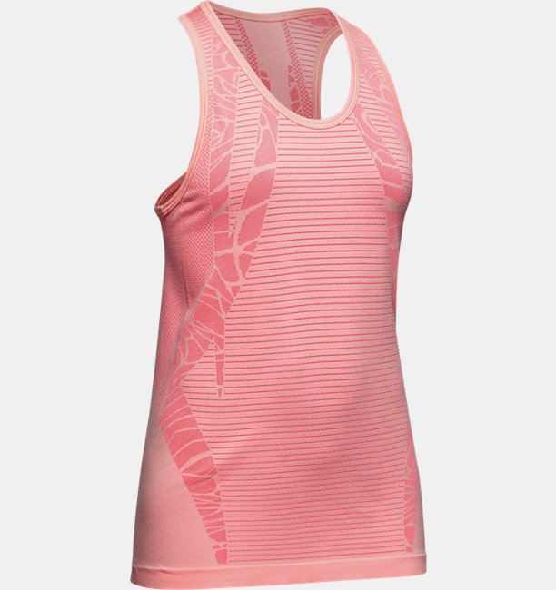 Under Armour Girls UA Seamless Tank Pink YLG