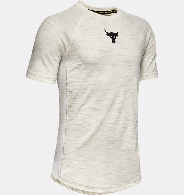 Under Armour Boys Project Rock Charged Cotton® T-Shirt White YSM