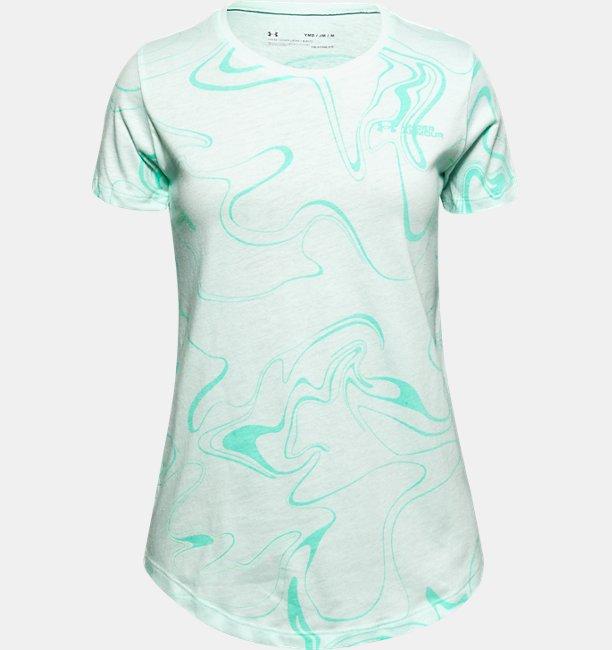 Meisjesshirt UA Liquify Print met korte mouwen