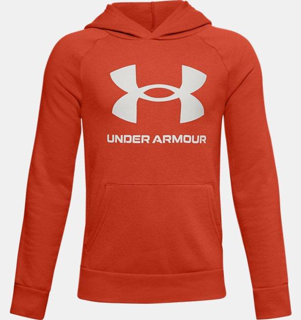Jongenshoodie UA Rival Fleece Big Logo