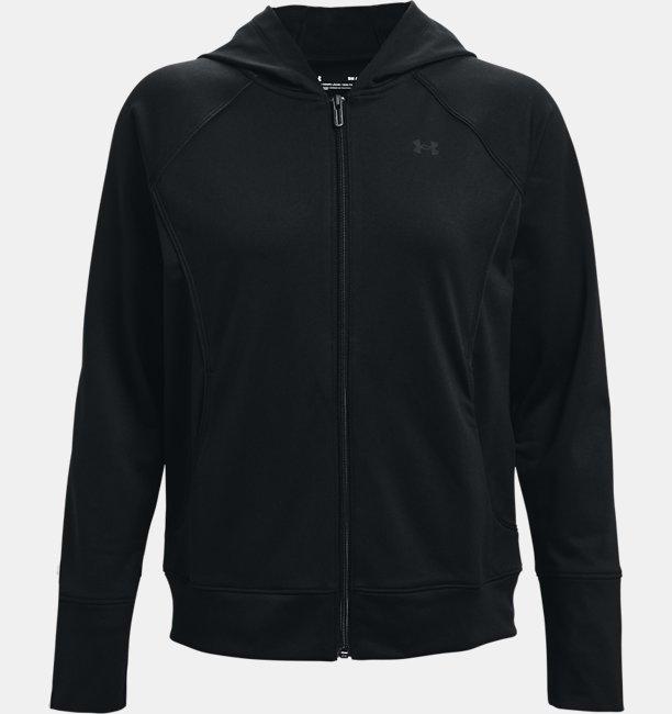 Under Armour Damen UA Jacke aus Trikotstoff Schwarz LG