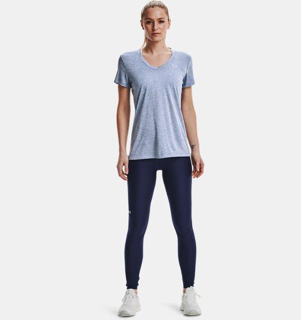 Under Armour Damen UA Tech™ Oberteil mit Twist-Effekt und V-Ausschnitt Blau XS