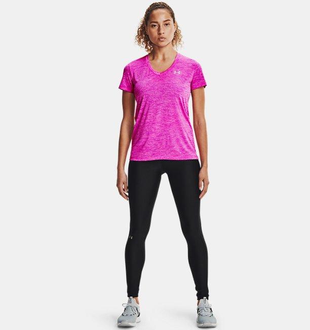 Under Armour Damen UA Tech™ Oberteil mit Twist-Effekt und V-Ausschnitt Rosa XS