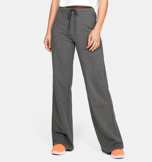 Womens UA Be Seen Terry Wide-Leg Trousers