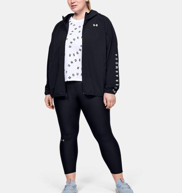 Women's UA Woven Branded Full Zip Hoodie