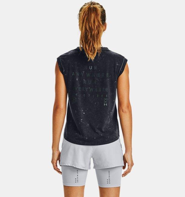 Damesshirt UA Run Anywhere met korte mouwen