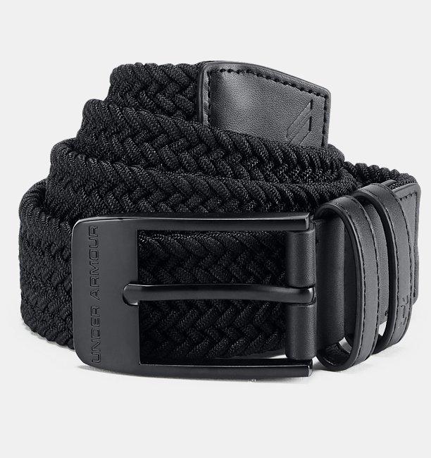 Cinturón trenzado para hombre Under Armour 2.0 - 1306538, 32, Black (001)/Black