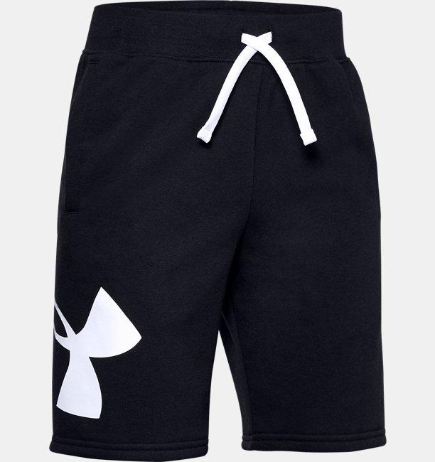 Boys' UA Rival Fleece Logo Shorts