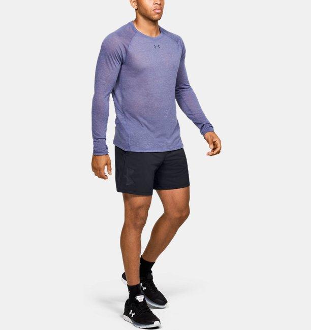 Men's UA Qualifier Speedpocket Branded 18 cm Linerless Shorts