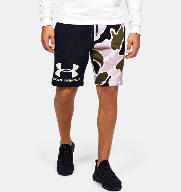 Men's UA Rival Fleece Colourblock Camo Shorts