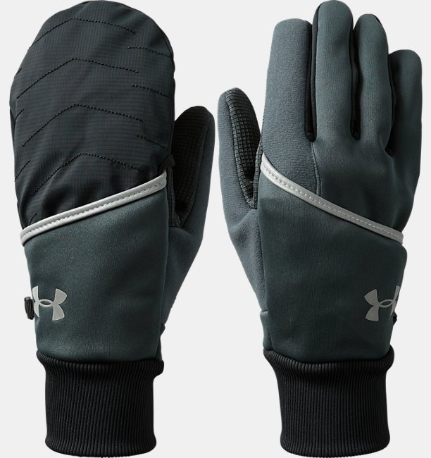 Men's UA Convertible ColdGear® Reactor Run Gloves