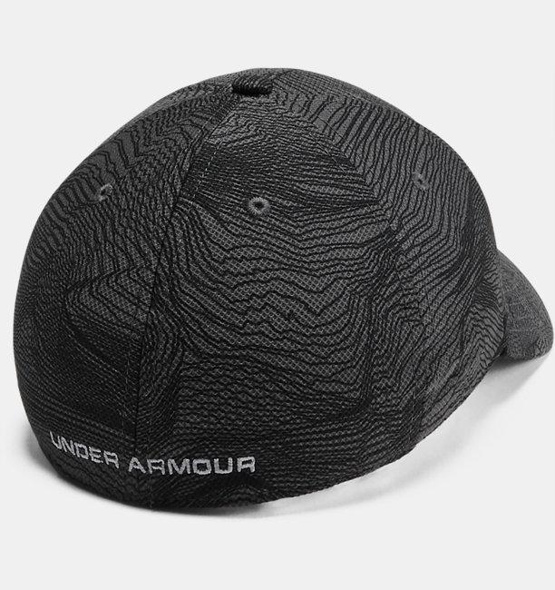 Mens UA Printed Blitzing 3.0 Stretch Fit Cap