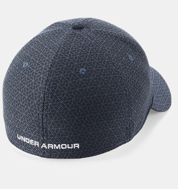 Men S Ua Printed Blitzing 3 0 Stretch Fit Cap Under